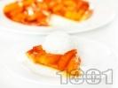 Рецепта Тарт татен - бърз и лесен сладкиш без яйца и брашно с бутер тесто и карамелизирани ябълки